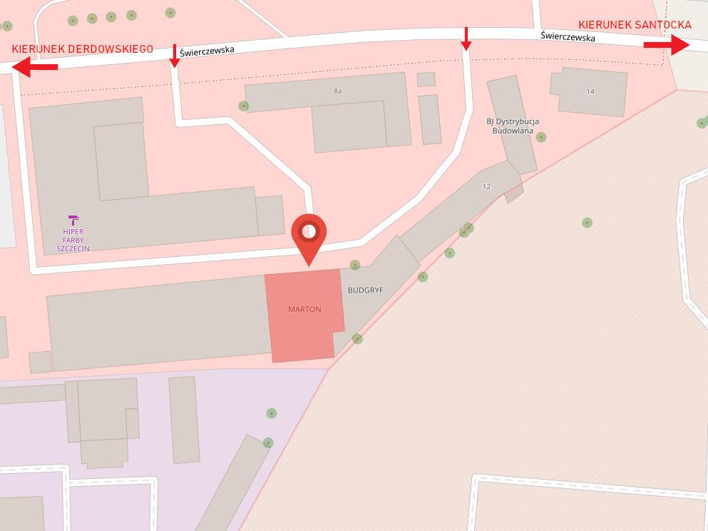 Mapa dojazdu do Marton Plus